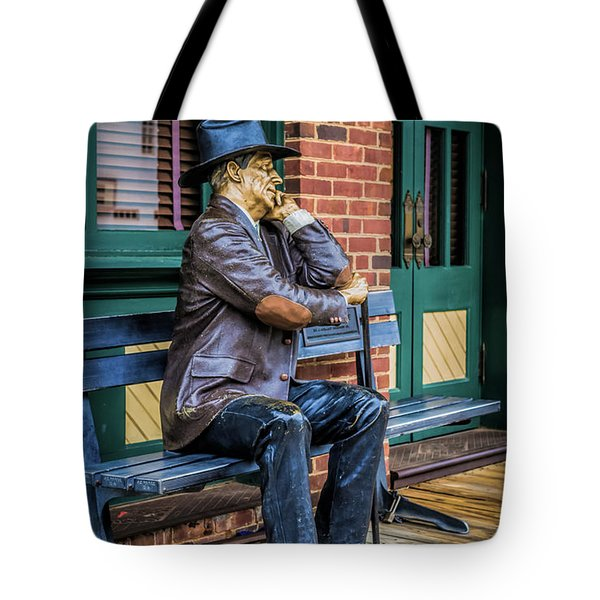 Tote Bag featuring the photograph Grapevine Cowboy by Robert Bellomy