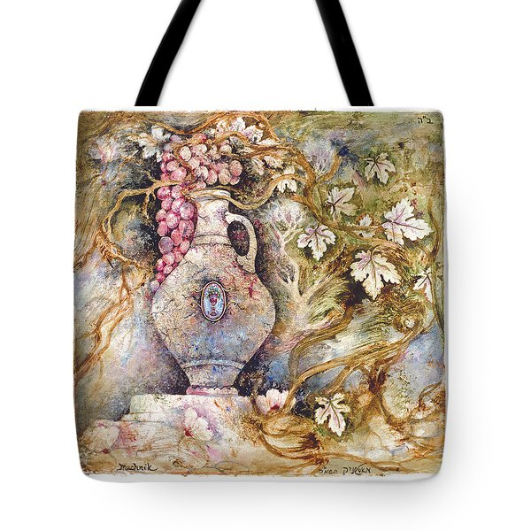 Grapevine Tote Bag by Michoel Muchnik