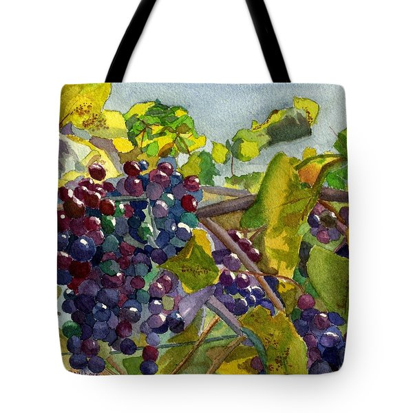 Tote Bag featuring the painting Grapevines by Lynne Reichhart