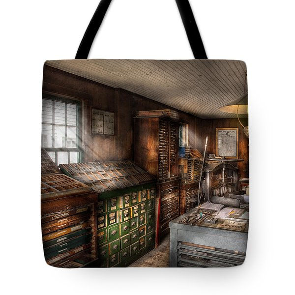 Graphic Artist - Upper And Lower Case  Tote Bag by Mike Savad
