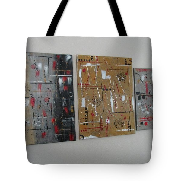 Tote Bag featuring the painting Graphic Jazz I II IIi by Sharyn Winters
