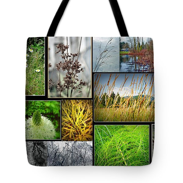 Grass Collage Variety Tote Bag by Tikvah's Hope