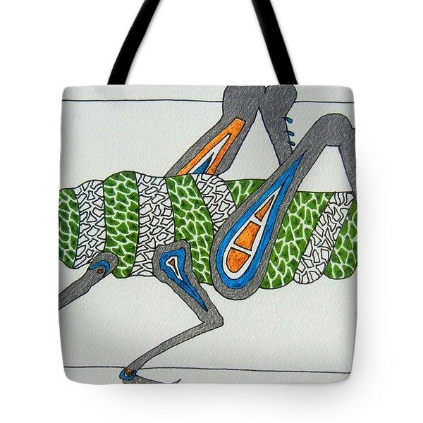 Grass Hopper I Tote Bag by Kruti Shah