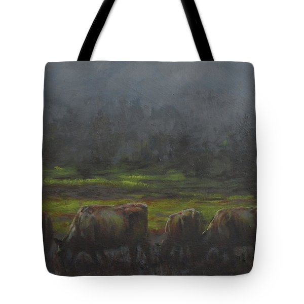 Grass It's What's For Dinner Tote Bag by Mia DeLode