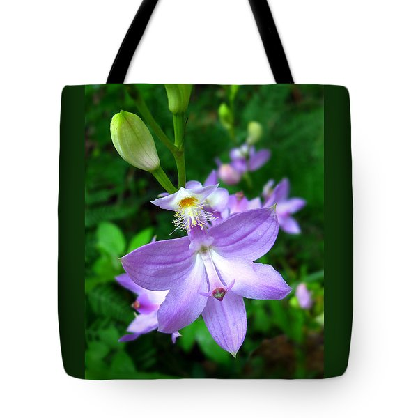 Grass Pink Orchid Tote Bag