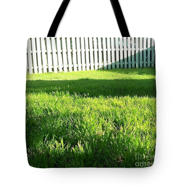 Grass Shadows Tote Bag
