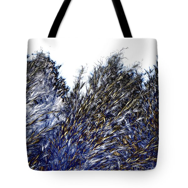 Tote Bag featuring the digital art Grass Solarisation by Rudi Prott