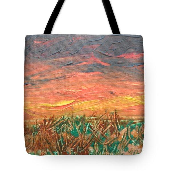 Grassland Sunset Tote Bag