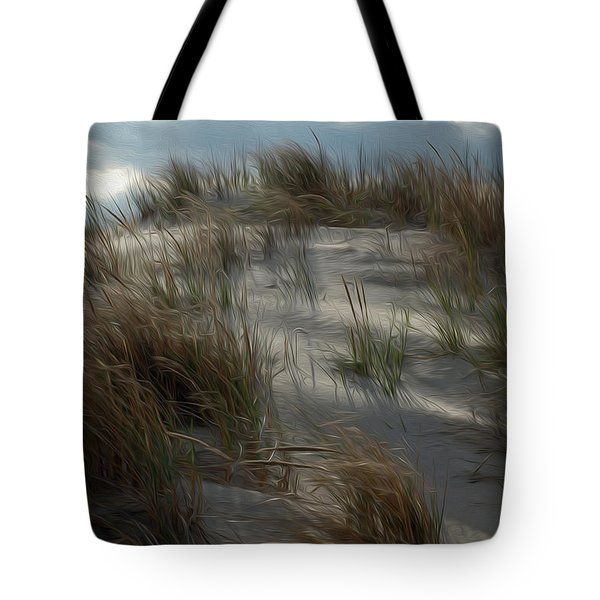 Tote Bag featuring the digital art Grassy Dunes by Kelvin Booker