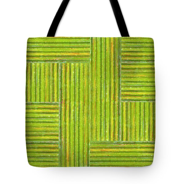 Grassy Green Stripes Tote Bag by Michelle Calkins