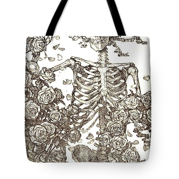 Tote Bag featuring the photograph Gratefully Dead Skeleton by Kelly Awad
