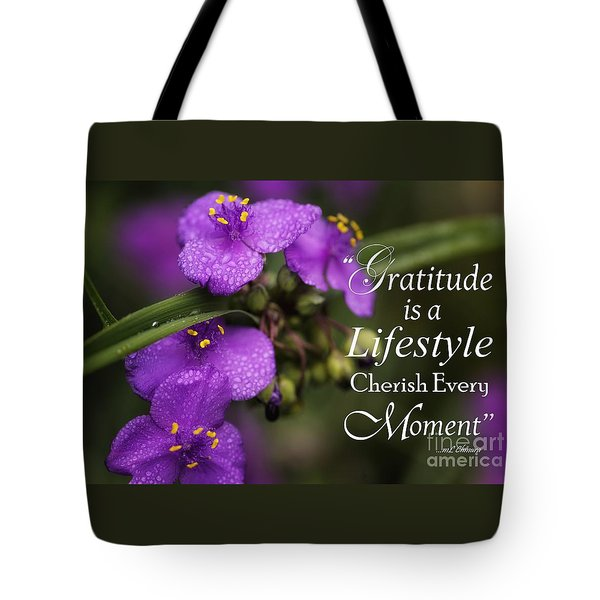 Gratitude Is A Lifestyle Tote Bag