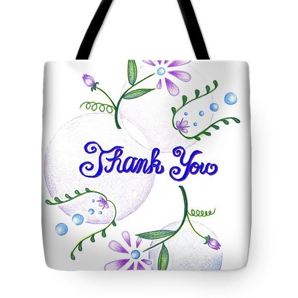 Tote Bag featuring the drawing Gratitude by Keiko Katsuta