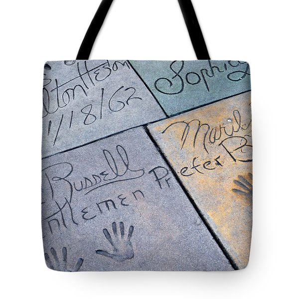 Grauman's Chinese Theatre Marilyn Monroe Tote Bag