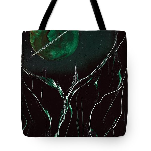 Tote Bag featuring the painting Gravair Castle by Jason Girard
