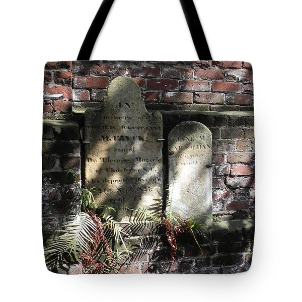 Grave Stones With Fern Tote Bag by Patricia Greer