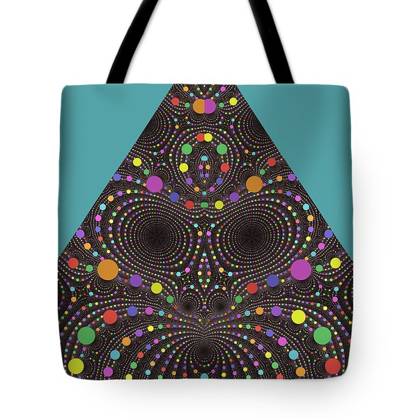 Tote Bag featuring the digital art Gravity And Magnetism by Mark Greenberg