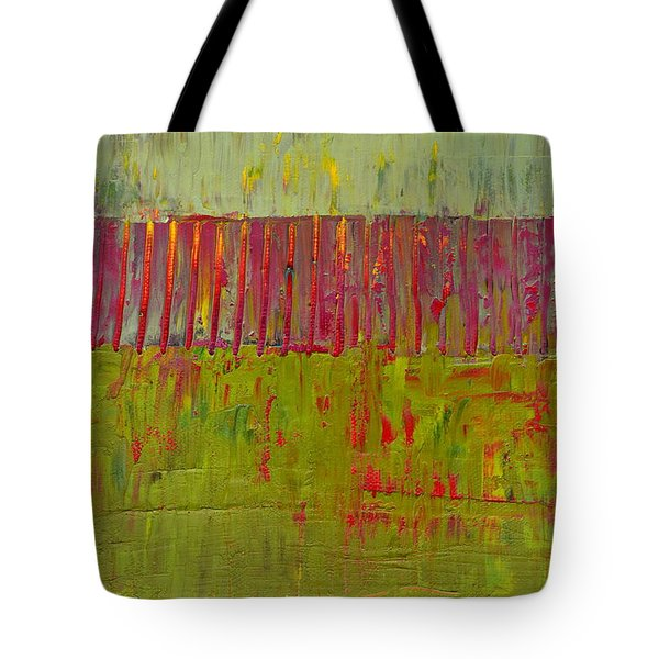 Gray And Green Tote Bag