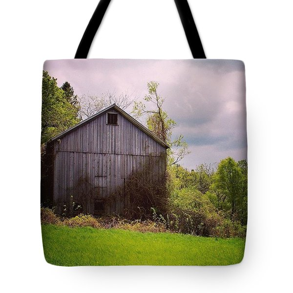 Gray Barn Tote Bag