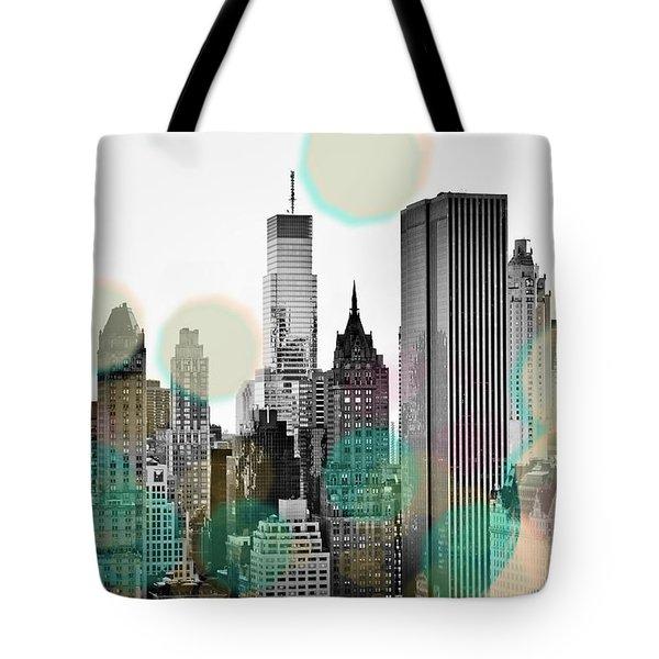 Gray City Beams Tote Bag