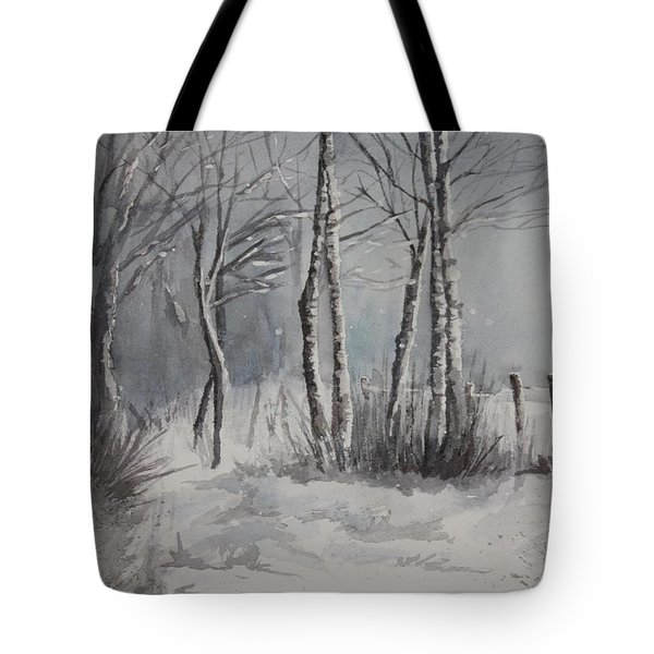 Gray Forest Tote Bag by Rachel Hames