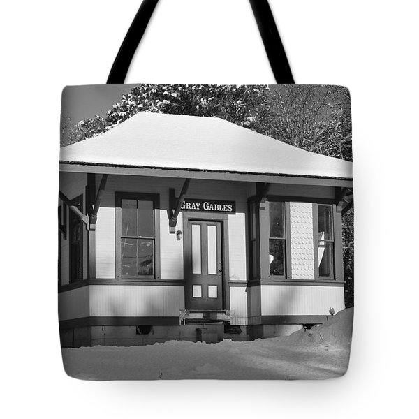 Gray Gables Train Station Tote Bag by Catherine Reusch  Daley