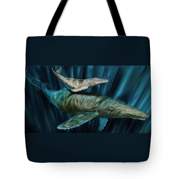 Graywhale Momma And Calf Tote Bag