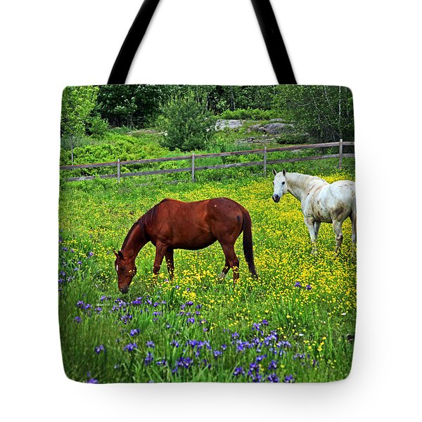 Grazing Amongst The Wildflowers Tote Bag by Karol Livote