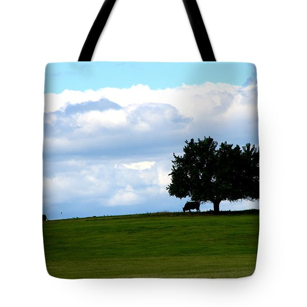 Tote Bag featuring the photograph Grazing by Cathy Shiflett
