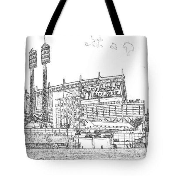 Great American Ball Park Line Tote Bag
