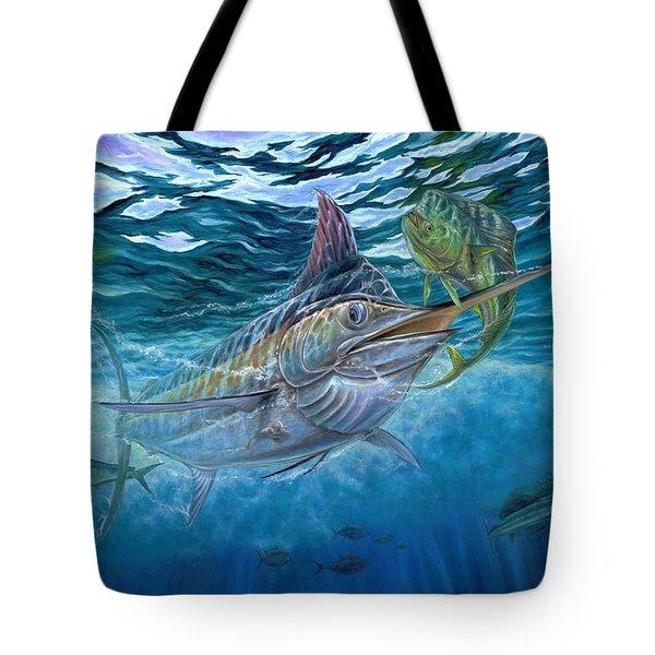 Great Blue And Mahi Mahi Underwater Tote Bag