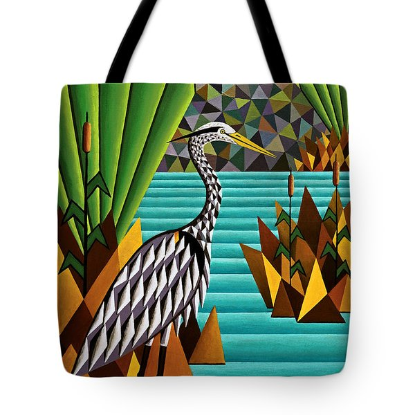 Great Blue Heron Tote Bag by Bruce Bodden
