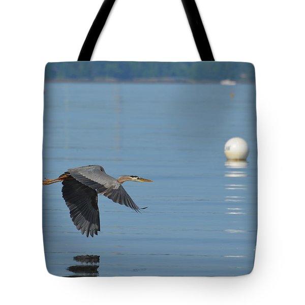 Great Blue Heron  Tote Bag by DejaVu Designs