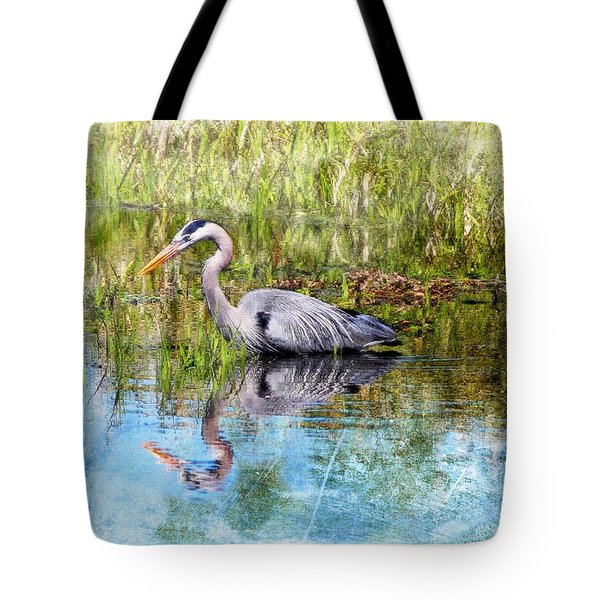 Great Blue Hunter Tote Bag by Barbara Chichester