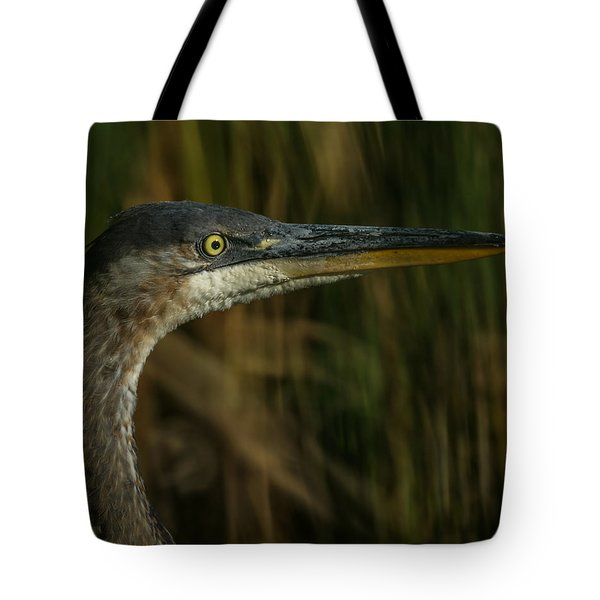 Great Blue Profile Tote Bag by Ernie Echols