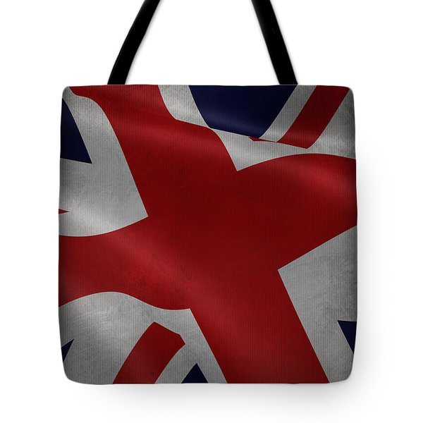 Great Britains Flag Waving On Canvas Tote Bag
