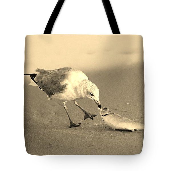 Tote Bag featuring the photograph Great Catch With Fish by Cynthia Guinn