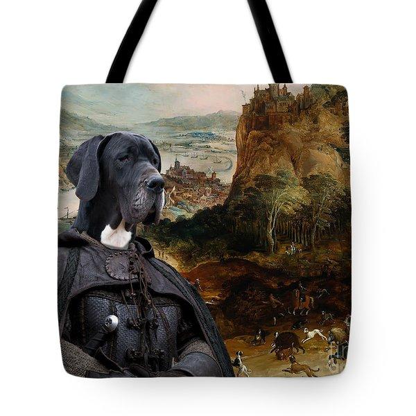 Great Dane Art - The Boar Hunt Tote Bag