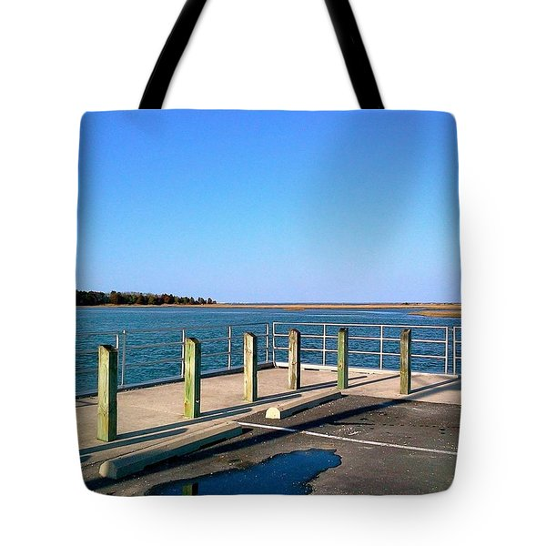 Great Day For Fishing In The Marsh Tote Bag by Amazing Photographs AKA Christian Wilson