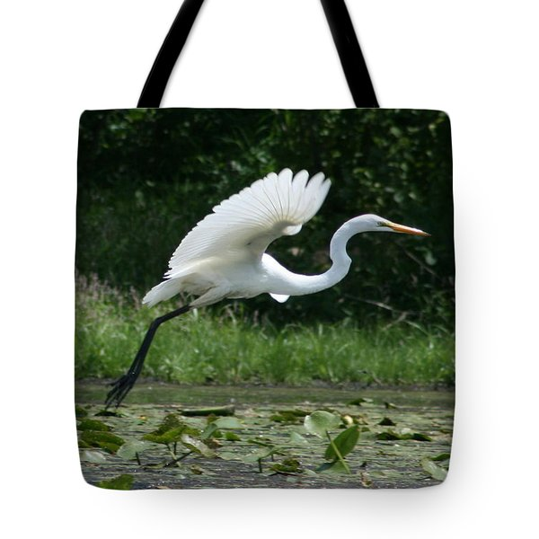 Great Egret Elegance   Tote Bag