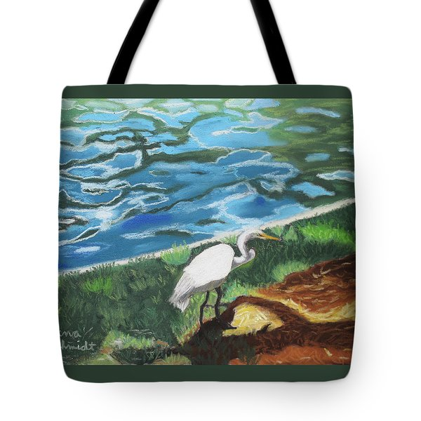 Great Egret In Florida Tote Bag