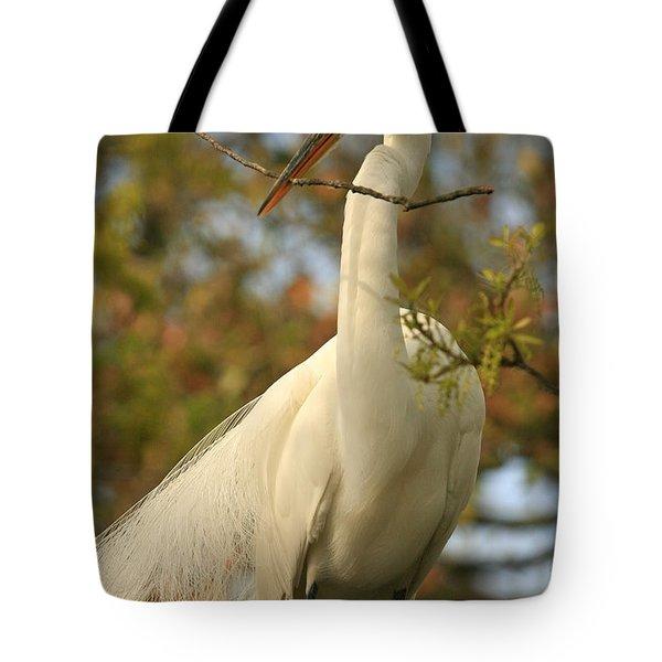 Great Egret Impressions Tote Bag