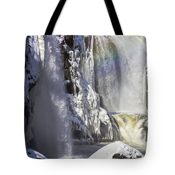 Great Falls And A Rainbow Tote Bag