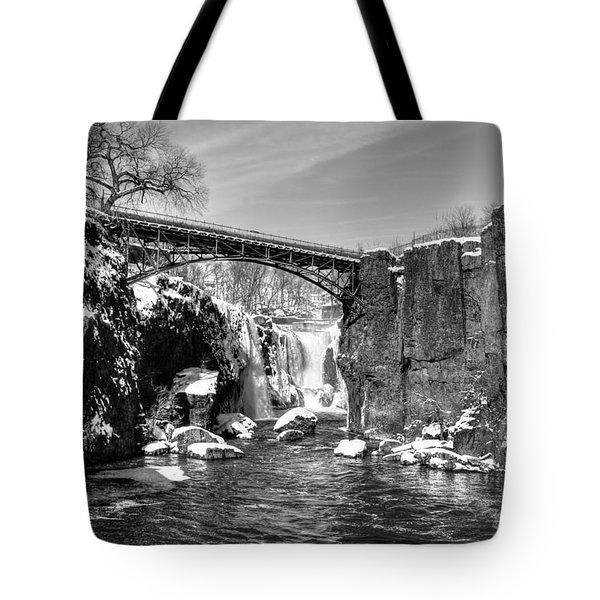 Great Falls In The Winter Tote Bag