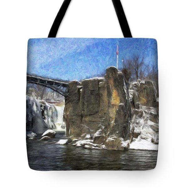 Great Falls Painted Tote Bag