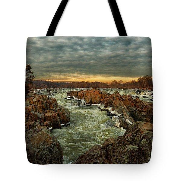 Great Falls Virginia Winter 2014 Tote Bag