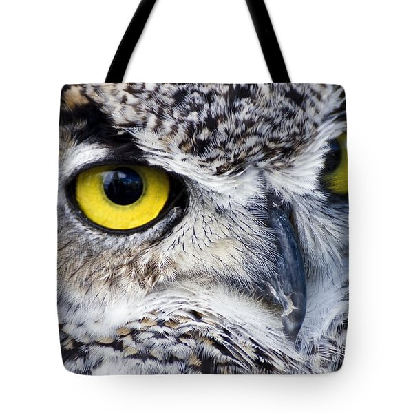 Great Horned Closeup Tote Bag