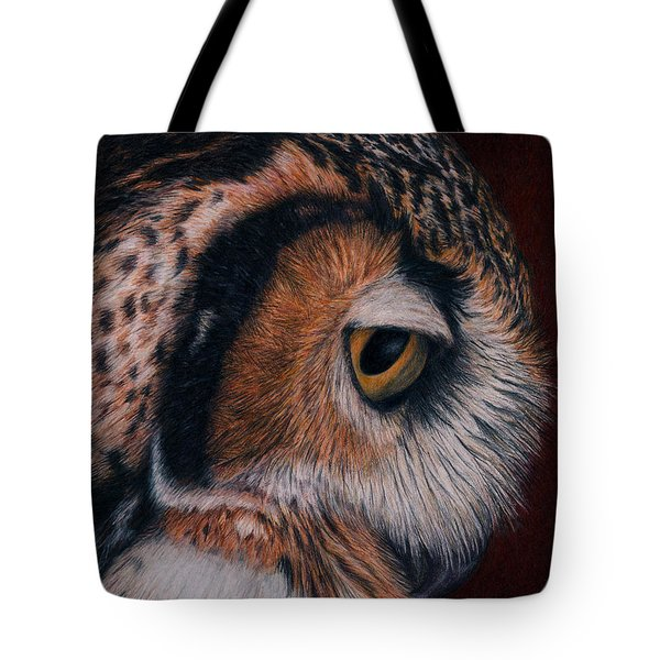 Great Horned Owl Portrait Tote Bag