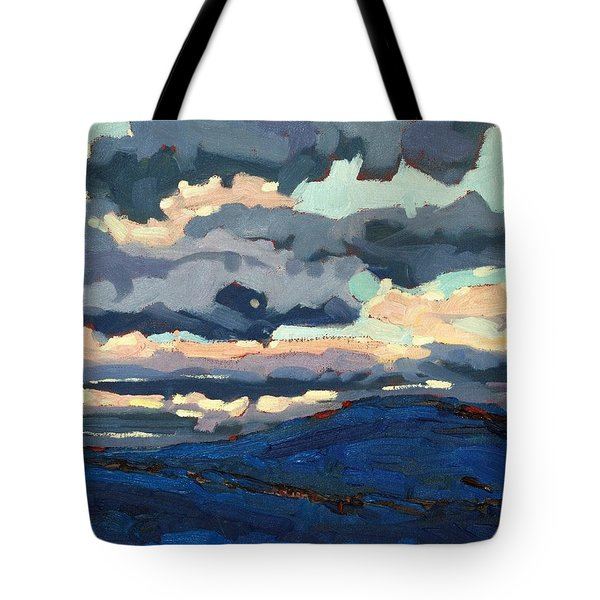 Great Horned Sunset Tote Bag by Phil Chadwick