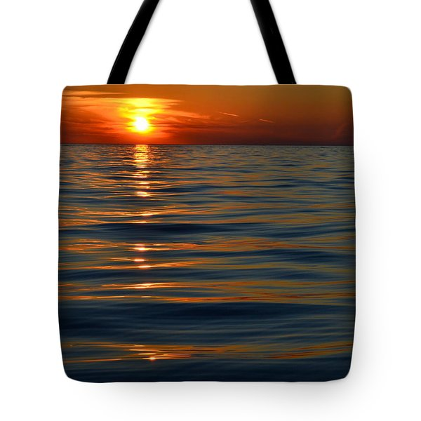Great Lake Sunset Tote Bag